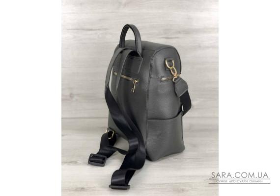 Молодежный сумка-рюкзак Фроги серого цвета WeLassie