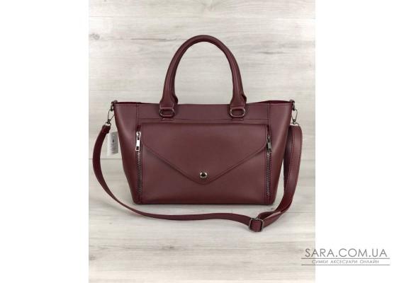 Стильна молодіжна сумка Сагари бордового кольору WeLassie