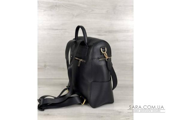 Молодежный сумка-рюкзак Фроги черного цвета WeLassie