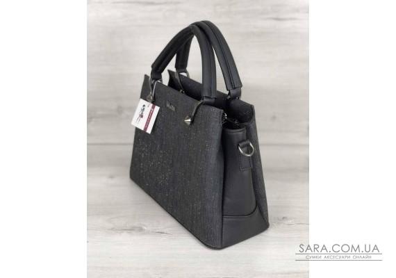 Стильная женская сумка Грана черный блеск WeLassie