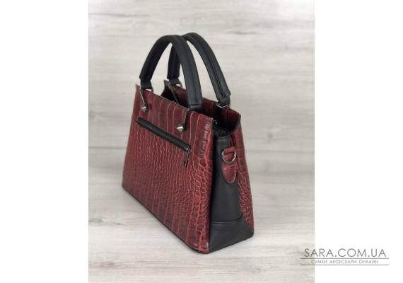 Стильная женская сумка Грана красный крокодил WeLassie