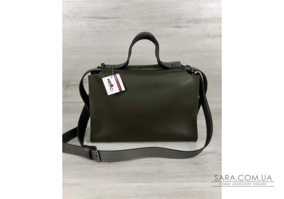 2в1 Стильная женская сумка Малика оливкового цвета WeLassie