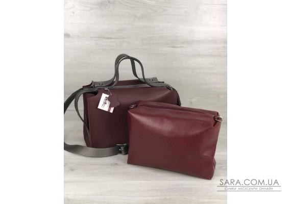 2в1 Стильная женская сумка Малика бордового цвета WeLassie