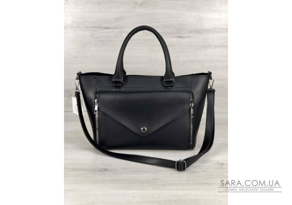 Стильная молодежная сумка Сагари черного цвета  WeLassie