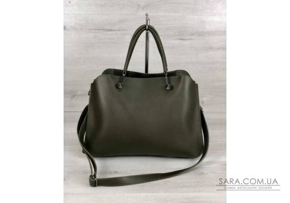 Стильна жіноча сумка Іларія оливкового кольору WeLassie