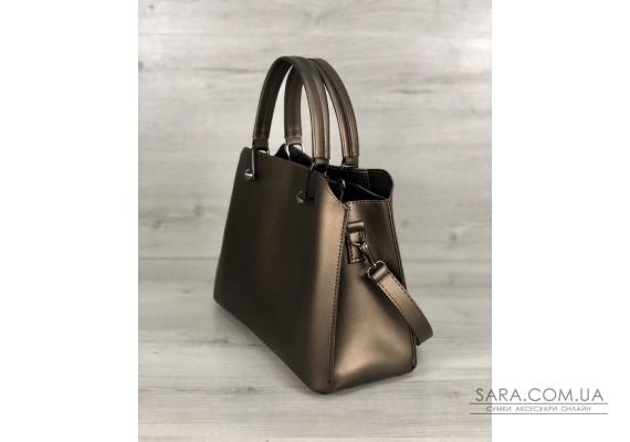 Стильная женская сумка Илария бронзового цвета WeLassie