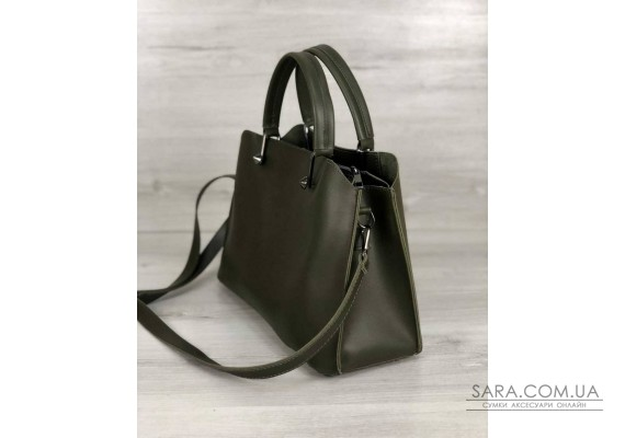 Стильная женская сумка Илария оливкового цвета WeLassie