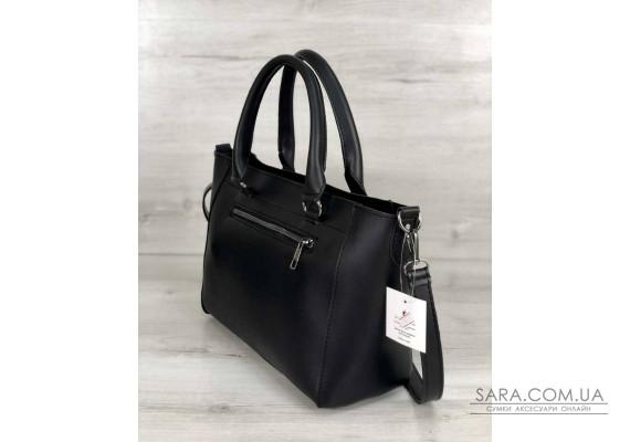 Стильна молодіжна сумка Сагари чорного кольору WeLassie