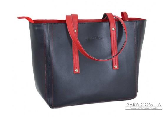 624 сумка екошкіра синя червона Lucherino