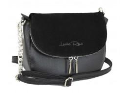626 сумка замш черная Lucherino
