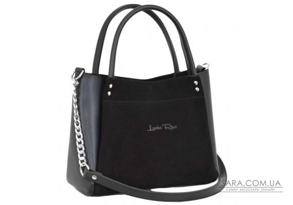 529 сумка замша черная н Lucherino