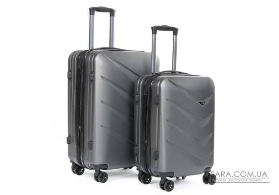 Дорожный Чемодан 2/1 ABS-пластик 8340 grey Podium