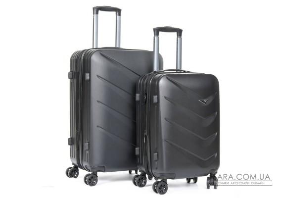 Дорожный Чемодан 2/1 ABS-пластик 8340 black Podium