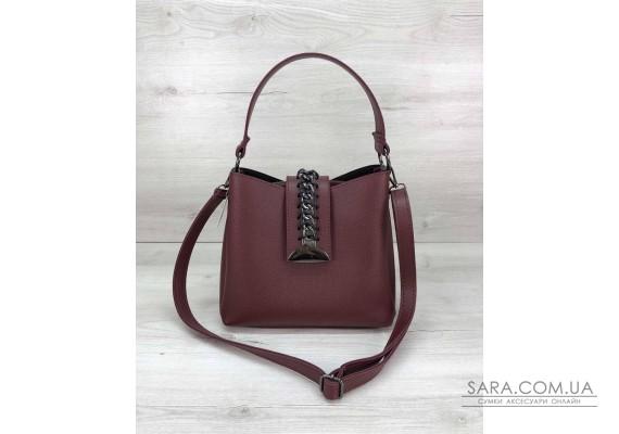 Молодіжна жіноча сумка Саті бордового кольору WeLassie
