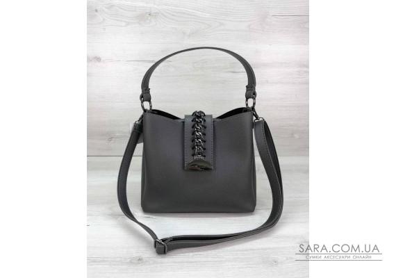 Молодіжна жіноча сумка Саті сірого кольору WeLassie