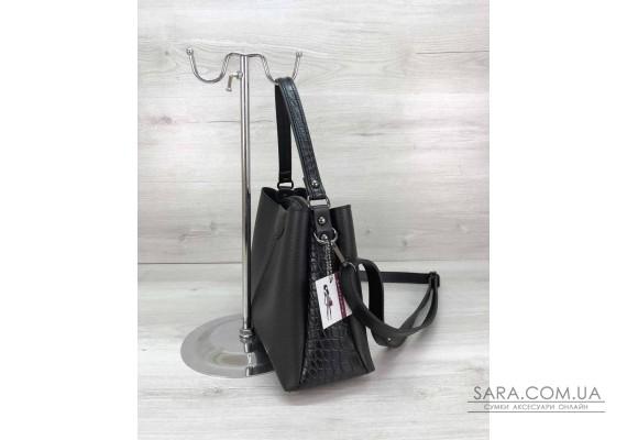 Молодіжна жіноча сумка Іліна чорного кольору WeLassie