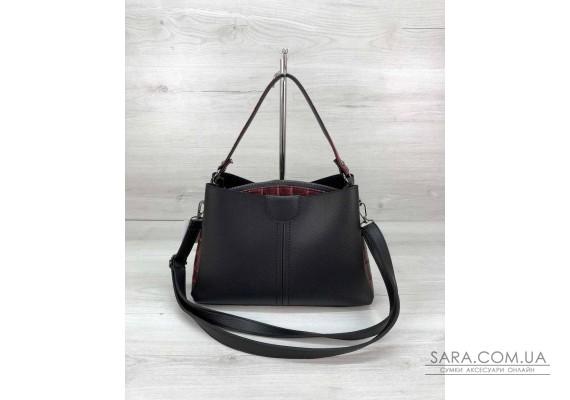Молодіжна жіноча сумка Іліна чорного кольору з червоним WeLassie