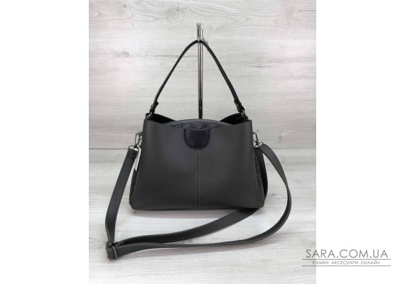 Молодіжна жіноча сумка Іліна сірого кольору WeLassie