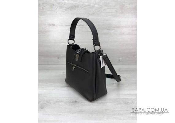 Молодіжна жіноча сумка Саті чорного кольору WeLassie