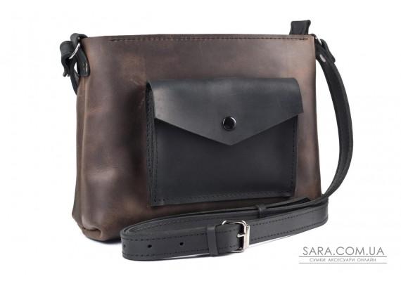 Женская сумка из натуральной кожи Bossy Шоколад