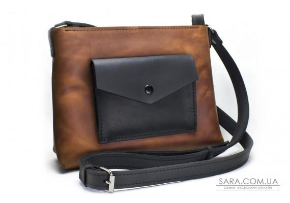 Женская сумка из натуральной кожи Bossy Коньяк