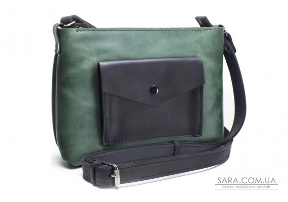 Женская сумка из натуральной кожи Bossy Зеленая