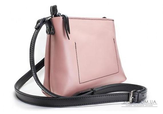Женская сумка из натуральной кожи Bossy Розовая