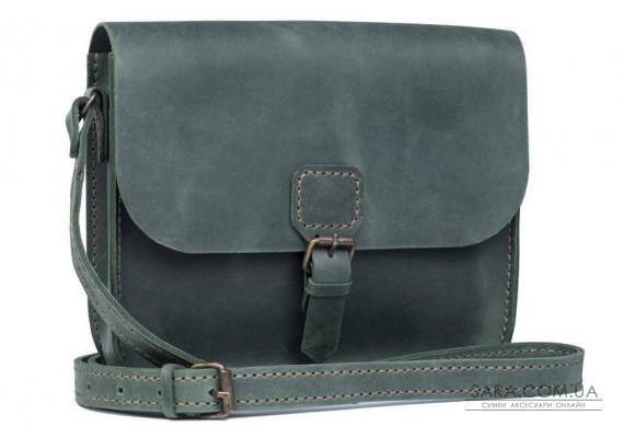 Женская сумка из натуральной кожи Handy Зеленая