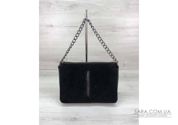 Стильная сумка-клатч  Tina со вставкой натуральный замш WeLassie