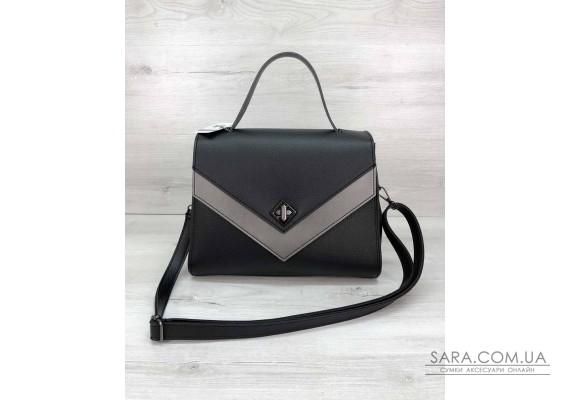 """Женская сумка """"Бетти"""" черная с серебром  WeLassie"""