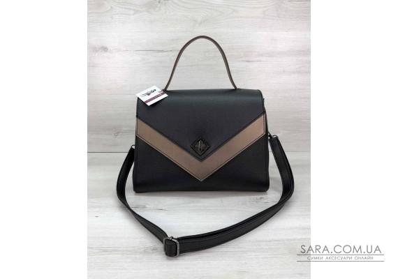 """Женская сумка """"Бетти"""" черная с бронзой  WeLassie"""
