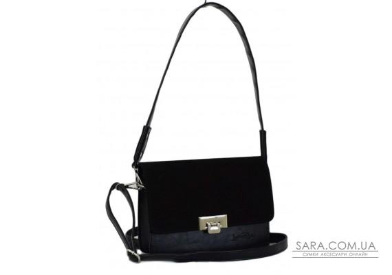 636 сумка замша черная п Lucherino