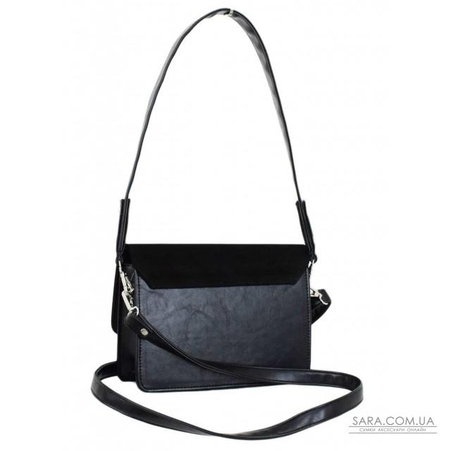 Купити 636 сумка замш чорна Lucherino дешево. Україна