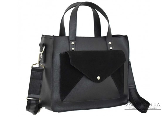 630 сумка замш черная Lucherino