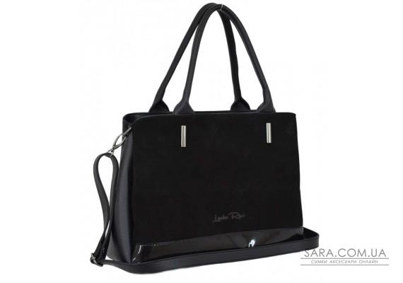 627 сумка замш черная лак Lucherino