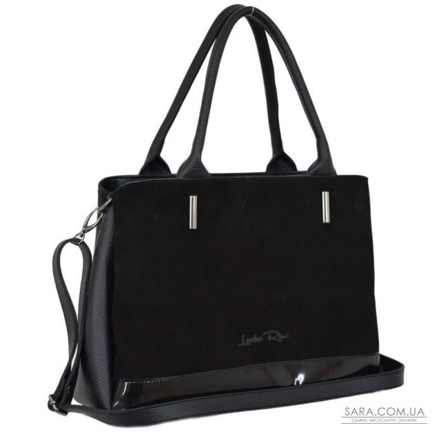 Купити 627 сумка замш чорна лак Lucherino дешево. Україна