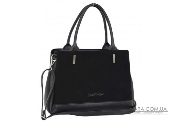627 сумка замш чорна Lucherino