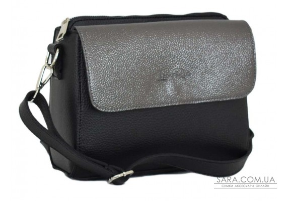 633 сумка чорна срібло Lucherino