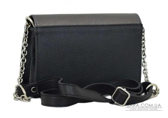 634 сумка чорна срібло Lucherino