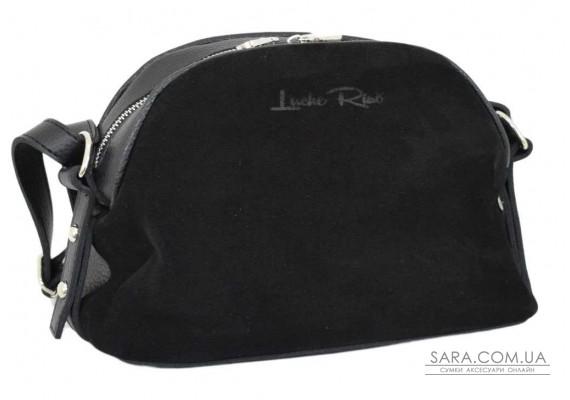 629 сумка чорна замш Lucherino