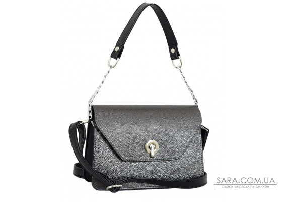635 сумка чорна срібло Lucherino