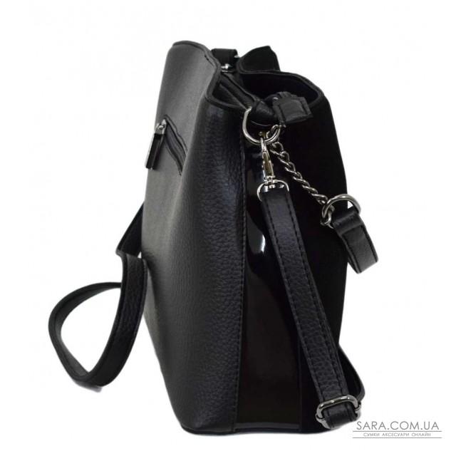Купити 628 сумка замш чорна Lucherino дешево. Україна