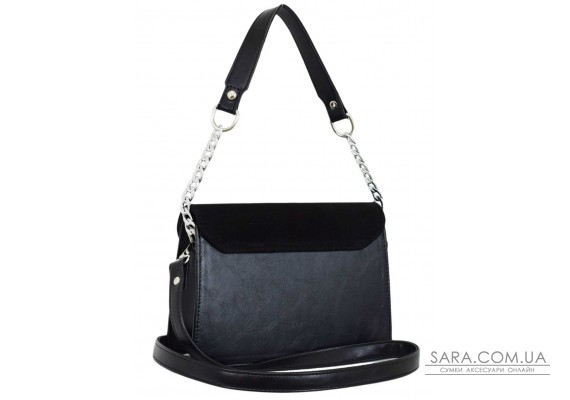 635 сумка замша черная Lucherino