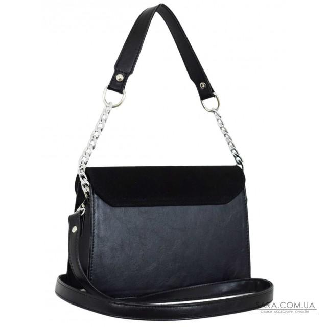 Купити 635 сумка замш чорна Lucherino дешево. Україна