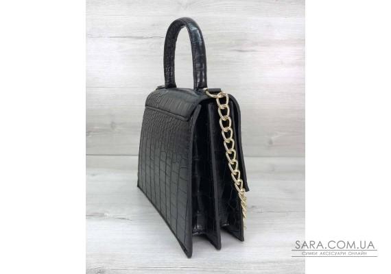 Жіноча сумка Лусія чорного кольору WeLassie
