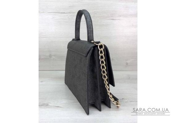 Жіноча сумка Лусія сірого кольору WeLassie