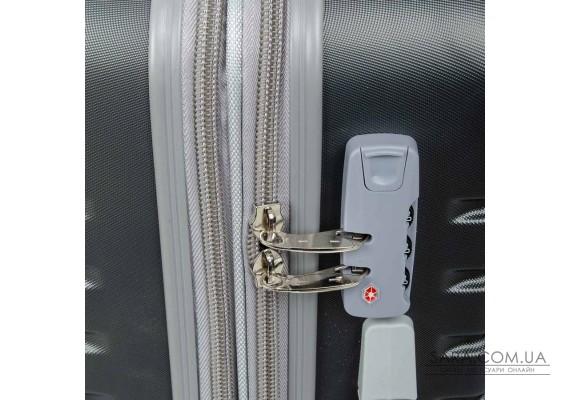 Дорожня Валіза 2/1 ABS-пластик 8347 grey змійка Podium