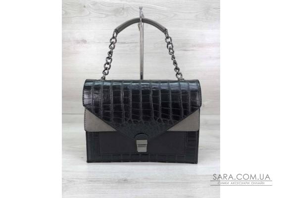 Стильна сумка Amber чорна WeLassie