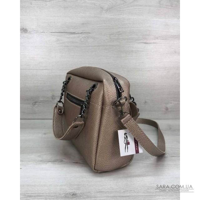 Стильная женская сумка Хлоя золотого цвета WeLassie дешево