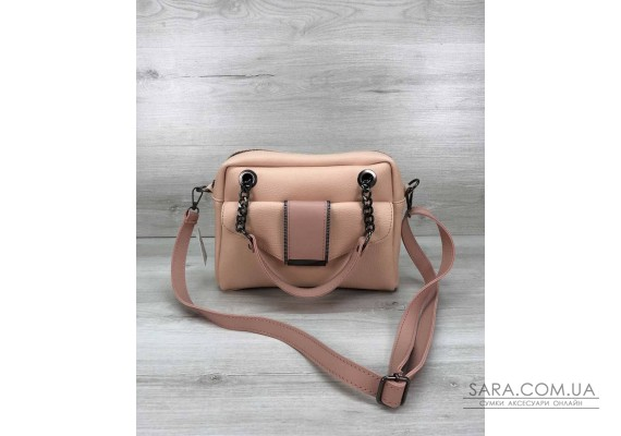 Стильная женская сумка Хлоя цвета пудры WeLassie